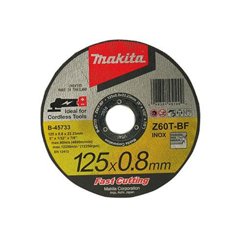 Makita B-45733 Metaal-doorslijpschijf 125 mm x 0,8 mm x 22,23 mm Pak van 5-5
