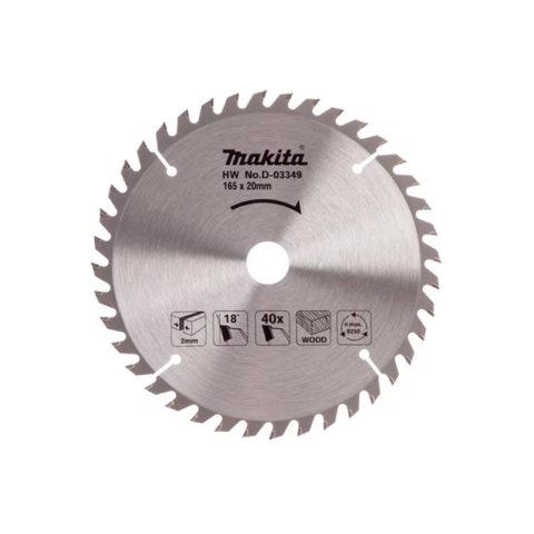 Makita D-03349 Cirkelzaagblad voor hout 165 x 20 x 40 tanden
