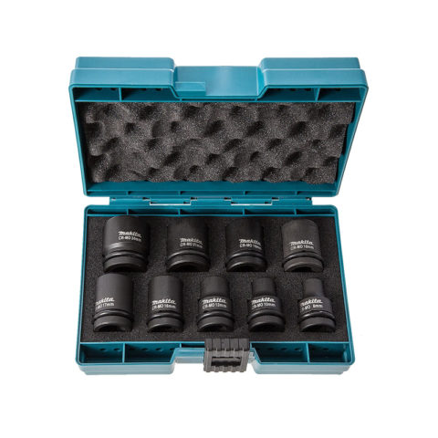 Makita D-41517 slagdopsleutelset 1/2 inch 9-delig - 1