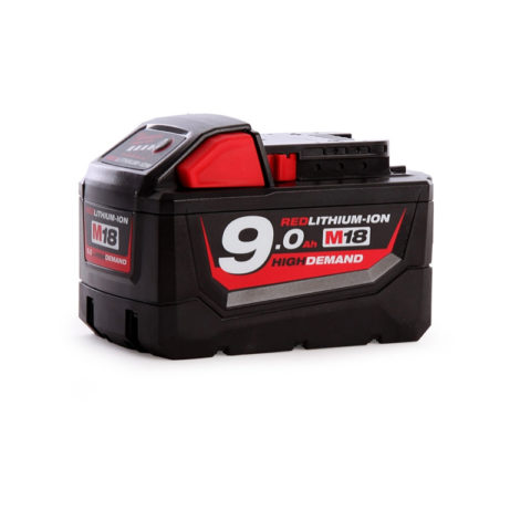 Milwaukee Originele M18B9 18V 9.0Ah Li-ion High Demand-batterij-1