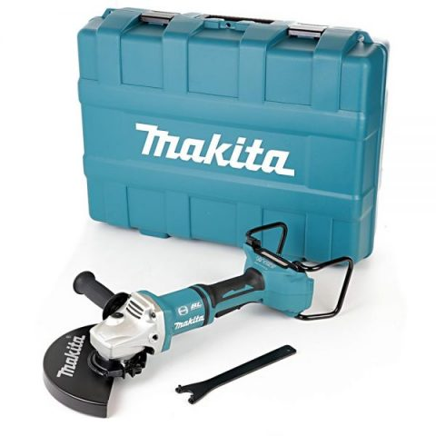 Makita DGA900ZK 18V Twin LXT borstelloze 230 mm haakse slijper met draagtas